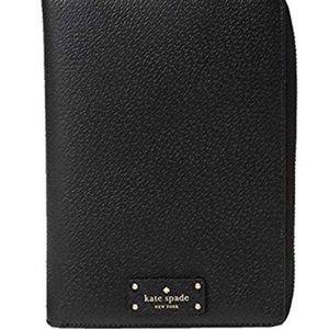 Kate Spade black zip planner wallet